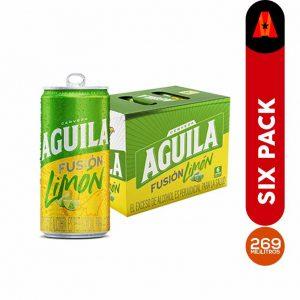 cerveza aguila fusion limon 269 ml