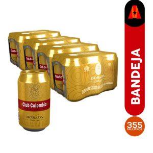 cerveza club colombia dorada 355 ml